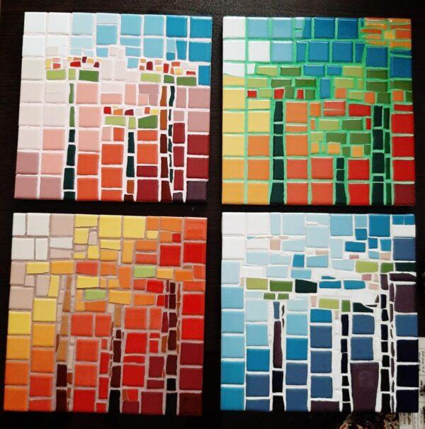 تابلو های ۴ تکه ۴ فصل
